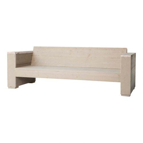 steigerhouten loungebank 3 zits