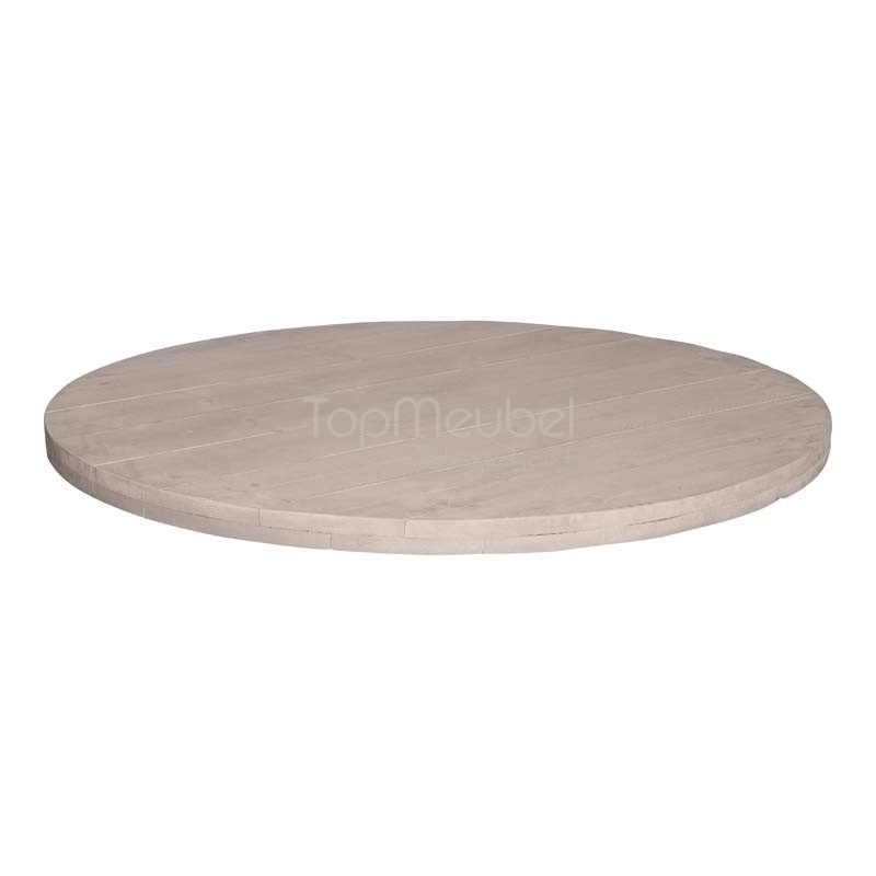 Tafelblad steigerhout rond